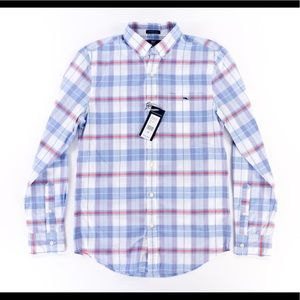 Vineyard Vines Mens XS Blue Plaid Shirt Tucker